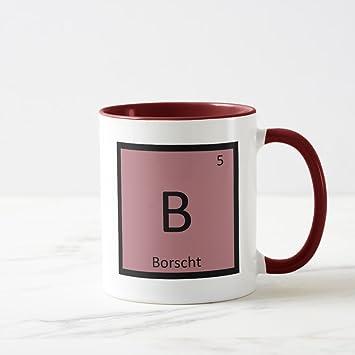 Amazon zazzle b borscht soup chemistry periodic table symbol zazzle b borscht soup chemistry periodic table symbol coffee mug maroon combo mug 11 urtaz Choice Image