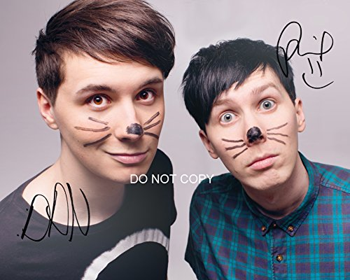 """Dan and Phil Reprint Signed 11x14"""" Poster Photo RP Autographed #1 YouTube from Loa_Autographs"""