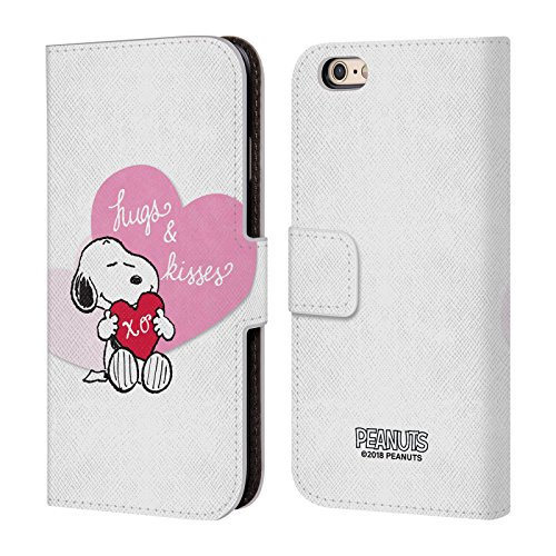Official Peanuts Snoopy Hugs and Kisses Sealed with A Kiss Leather Book Wallet Case Cover for iPhone 6 / iPhone 6s