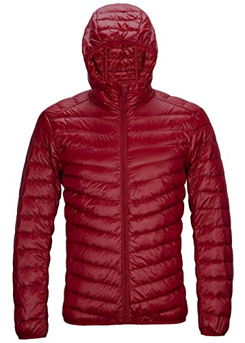 - ZITY Men's Winter Hooded Packable Ultra Light Pillow Down Puffer Jacket Coat Outdoor Quilted Lightweight Down Parka,Men's Packable Light Down,Rose US Small