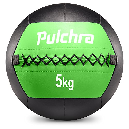 PULCHRA Soft Medicine Ball, Leather Medical Slam Weight Wall Ball, Fitness Training Workout Exercise for Better Power Balance, Arm Leg Waist Muscles Build
