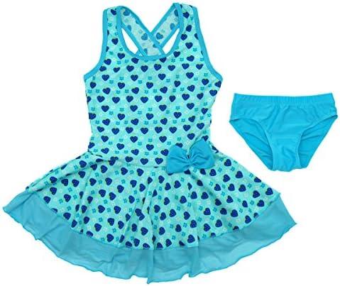 SINOLY Girls Two Piece Swimsuit Criss Cross Back Swimwear