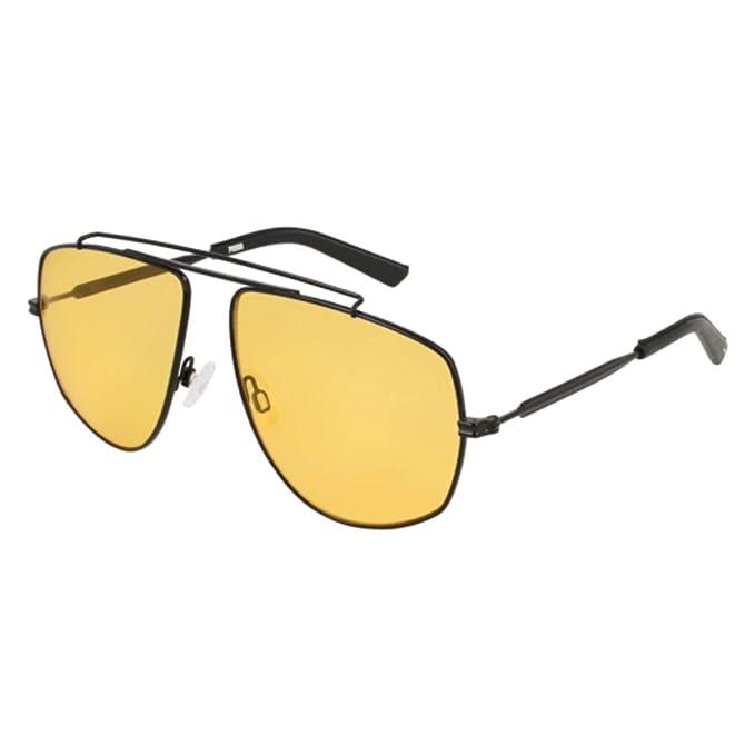 Amazon.com: Gafas de sol Puma PU 0188 S- 001 negro/amarillo ...