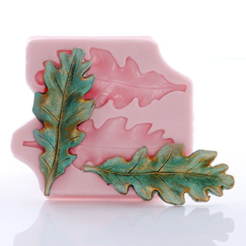 Silicone Oak Leaf Mold, Fondant, Candy, Chocolate, Food Safe, Polymer Clay, Resin Mold, Epoxy and so much (Clay Oak Mold)