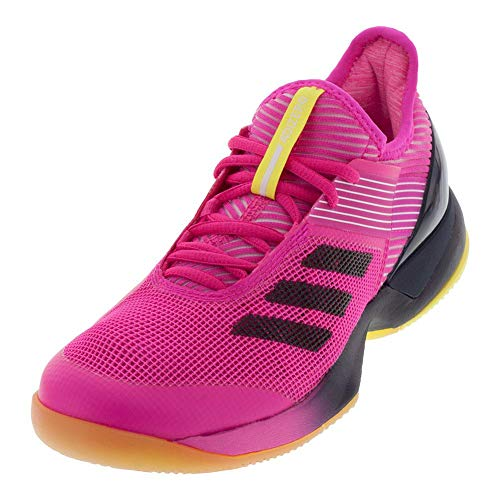 adidas Women's Adizero Ubersonic 3 Tennis Shoe, Shock Pink/Legend Ink/White, 7 M US