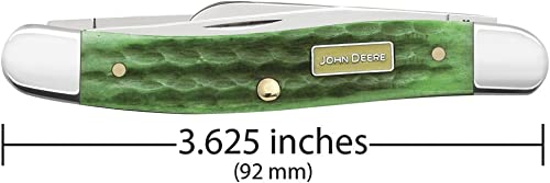 CASE XX WR Pocket Knife John Deere Green Medium Stockman Item 15706 – 6318 SS – Length Closed 3 5 8 Inches