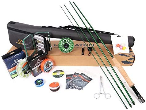 M MAXIMUMCATCH Maxcatch Premier Fly Fishing Rod and Reel Combo Complete 9 Fishing Outfit