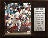 MLB Robin Yount Milwaukee Brewers Career Stat Plaque