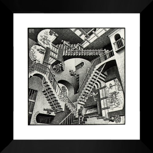 Relativity 20x20 Framed Art Print by M.C. Escher (Mc Escher Poster)