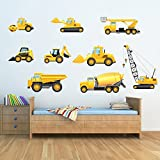 azutura Truck & Digger Wall Sticker Set Construction Wall Decal Boys Room Nursery Decor available in 8 Sizes Gigantic Digital