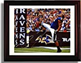 Framed Ray Lewis Celebration Autograph Print