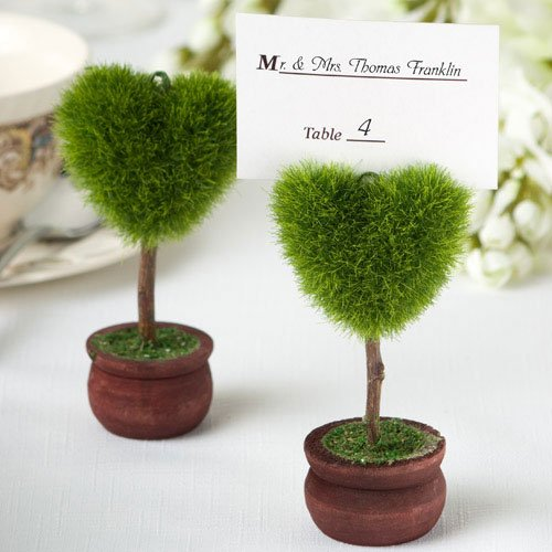 Unique Heart Design Topiary Place Card Holder [SET OF (Topiary Card)