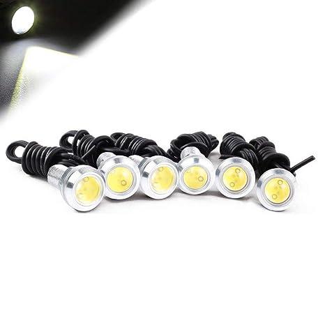 6x LED Rock Green Round Button Lights Truck Eagle Eye Side Marker Lights Lamp