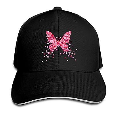 SeeSeasan Petals Butterfly Custom Sandwich Peaked Cap Unisex Baseball Hat