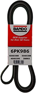 Bando USA 6PK986 OEM Quality Serpentine Belt