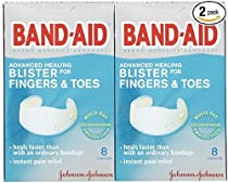Band-Aid Brand Adhesive Bandages, Advanced Healing Blister Cushions for Fingers & Toes, 8-Count Boxes (Pack of 2)