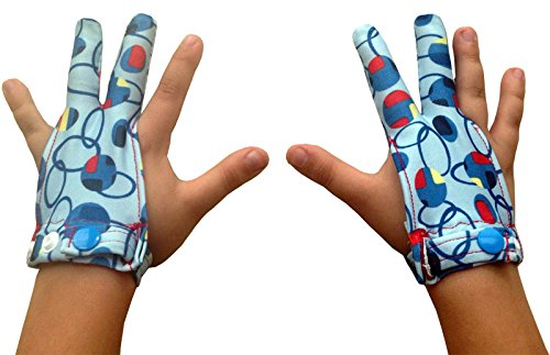 Stop Finger Sucking with Blue Attack Large Ages 5 Years Old & Up by Glovey Huggey