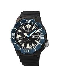 Seiko Prospex Dive Automatic Black Dial Black Polyurethane Mens Watch SRP581