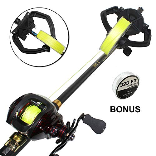 - Thekuai Fishing Line Spooler Portable Spooling Station System Fishing Reel Baitcaster Line Winder