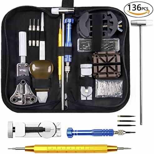 Watch Repair Kit, Electrapick Professional Spring Bar Tool Set, Watch Band Link Pin Removal Tool Set
