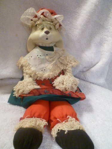 house of lloyd christmas around the world grannie flo bunny rag mop ornament toy by house - Christmas Around The World House Of Lloyd