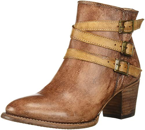 Bed|Stu Women's Begin Boot, Black/Tan Teak Driftwood, 8 M US