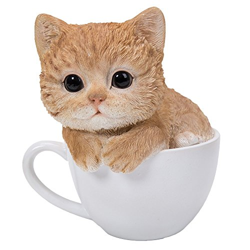 Pacific Giftware Adorable Teacup Pet Pals Cat Kittens Collectible Figurine 5.75 Inches