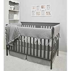 American Baby Company Heavenly Soft 6 Piece Crib Bedding Set, Grey