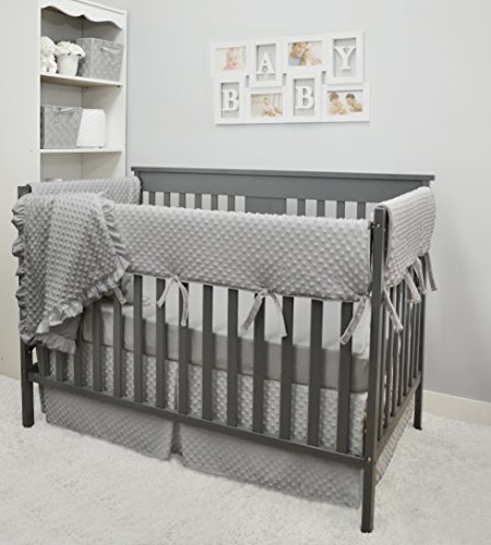 Boy Crib Bedding (American Baby Company Heavenly Soft 6 Piece Crib Bedding Set, Grey, for Boys and Girls)