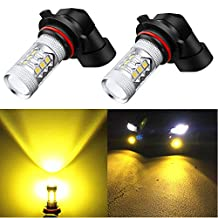 Alla Lighting High Power 3030 SMD New Version Xtremely Super Bright 9006 HB4 Gold Yellow LED Fog Light Bulb Lamps Replacement (9006 HB4)
