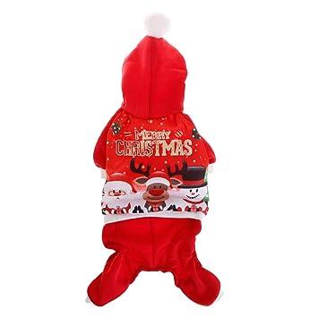 Qiuxiaoaa Mascota de Navidad Sudadera con Capucha Abrigo de ...