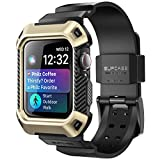 SUPCASE Rugged Protective Case for Apple Watch 4 / Watch 5 [44mm], with Strap Bands for Apple Watch Series 4 2018 / Series 5 2019 [Unicorn Beetle Pro] (Gold)