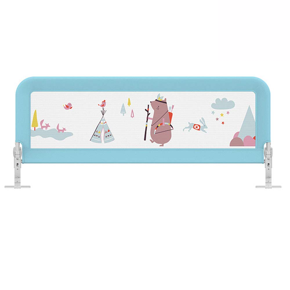 Xyanzi-ガードレールフェンス 子供用ベッドレール 赤ちゃん用ベッド 反落下 安全性 フェンス 1.82メートル 垂直 リフト 大きなベッドバッフル 、 2色展開 (サイズ さいず : Blue-1.8M) Blue-1.8M  B07KGB4LJT