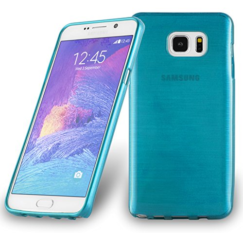 Cadorabo Case Works with Samsung Galaxy Note 5 in Turquoise - Shockproof and Scratch Resistant TPU Silicone Cover - Ultra Slim Protective Gel Shell Bumper Back Skin