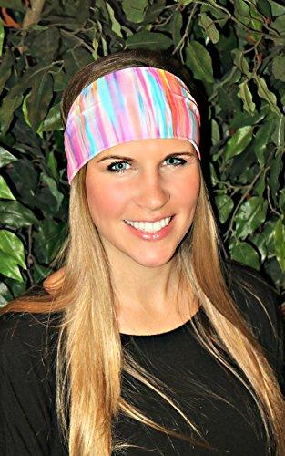 RAVEbandz Fashion Stretch Headbands (PASTELS) - Non-Slip Sports & Fitness Hair Bands for Women and Girls