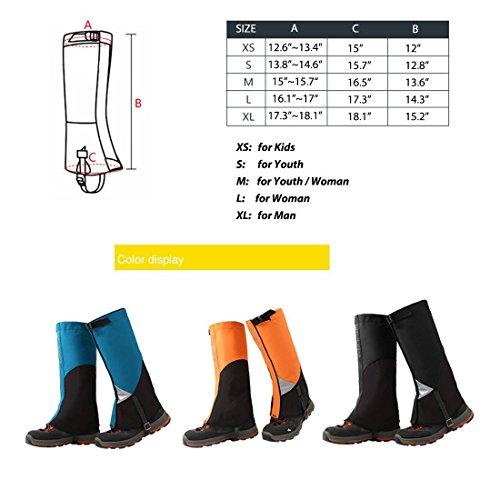 AMYIPO Unisex Snow Leg Hiking Boots Gaiters Waterproof Gaiters