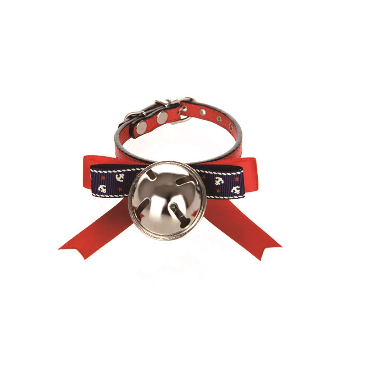 Red S Red S Tongboshi Cat Bow Tie Decoration, Bell with Cute Pet Necklace, Cat Bell Collar, Small Kitten Dog Collar, Red The Collar is Beautiful in Design and Unique in co (color   Red, Size   S)