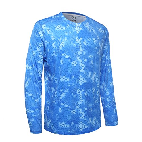 Koofin Performance Fishing Shirt Men UPF 50 UV Sun Protection Long Sleeve Quick Dry Mesh Cooling Rash Guard Kryptek Loose Fit by Koofin