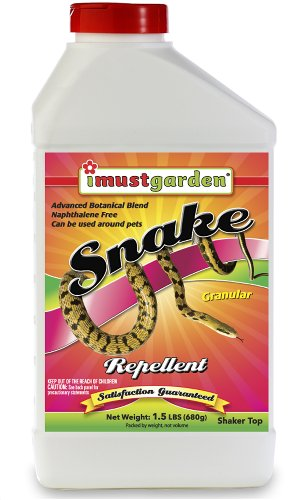 I Must Garden All Natural Granular Snake Repellent: Effectively Keeps Snakes Away! Family & Pet Safe, Easy to Use 1½ LB Shaker Jar