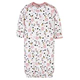 Gerber Baby 4-Pack Gown, Bear Pink, 0-6 Months