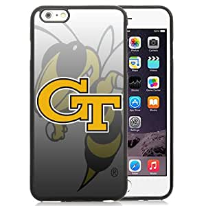 Fashion And Unique iPhone 6 Plus Cover Case NCAA Atlantic Coast Conference ACC Footballl Georgia Tech Yellow Jackets 4 Protective Cell Phone Hardshell Cover Case For iPhone 6 Plus 5.5 Inch Black Phone Case