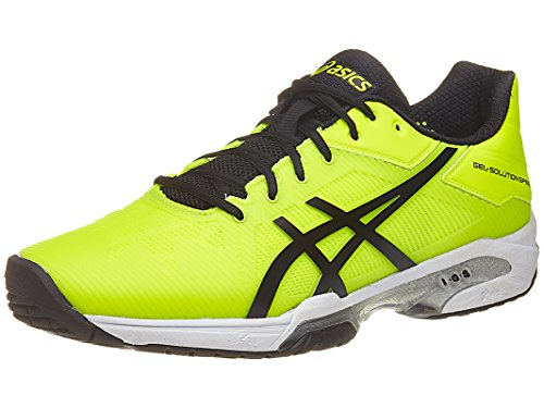 Asics Mens Gel Solution Speed 3 Tennis Shoe  Safety Yellow Black White  10 M Us