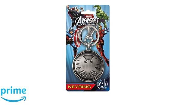 Marvel Vengadores Águila Logo Pewter Llavero: Amazon.es ...