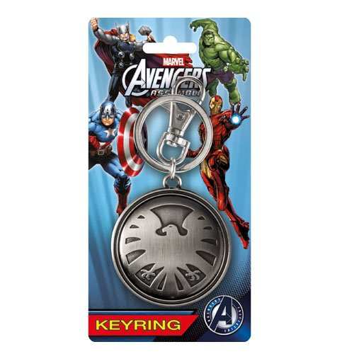 Marvel Avengers Eagle Logo Pewter Key Ring