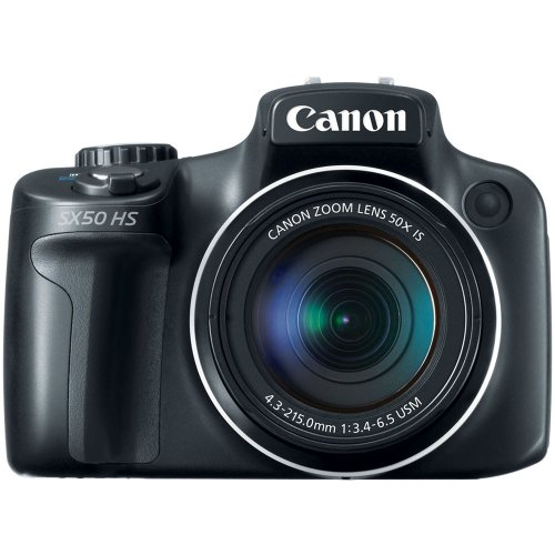 - Canon PowerShot SX50 HS 12MP Digital Camera with 2.8-Inch LCD (Black)