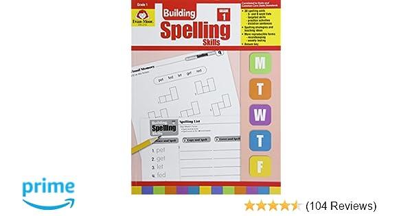 Amazon building spelling skills grade 1 9781557998392 evan amazon building spelling skills grade 1 9781557998392 evan moor books fandeluxe Gallery