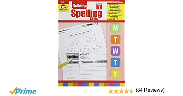 Workbook first grade worksheets pdf : Amazon.com: Building Spelling Skills: Grade 1 (9781557998392 ...