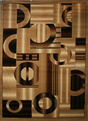 1053-beige Brown Black 4x5 Area Rug Contemporary Modern Carpet New