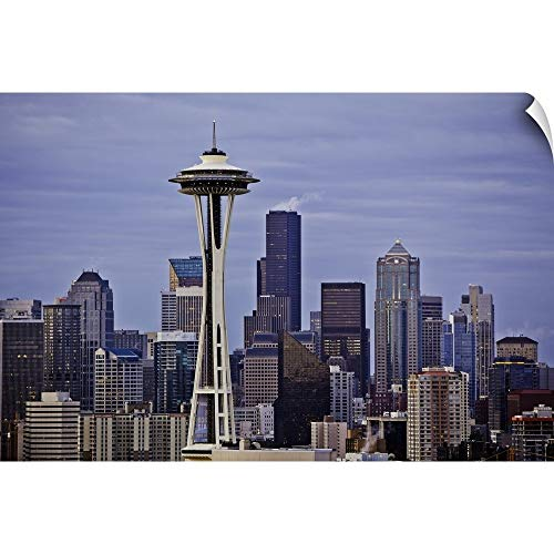 CANVAS ON DEMAND Space Needle II Wall Peel Art Print, 48