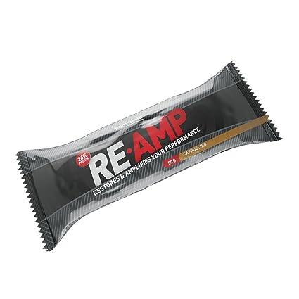 Bodyraise RE-AMP Protein Bar 50g - Suplemento con Sabor a Capuchino para Potenciar el